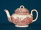 "Enoch Wood Teapot of ""Nunney Castle"""