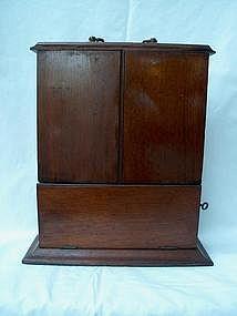 Victorian Walnut Key Box