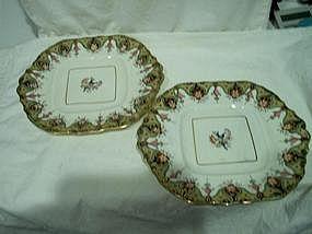 Pair of Staffordshire Dessert Dishes