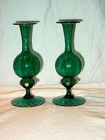 Pair of Venetian Glass Vases