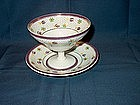 Wedgwood Lustre Sherbert Footed Bowls with Plate; 10