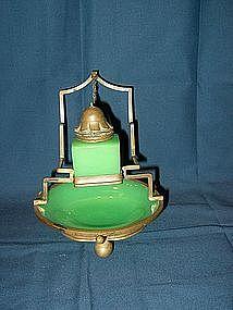 Opaline Brass Mounted Inkstand