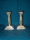 George V Silver Candlesticks