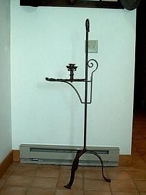Hand Wrought Iron Candle Stand