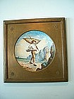 Hand Painted Porcelain Fisherman Plaque