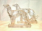 Pair of Glass Borzoi Dogs