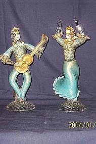 Hand Blown Venetian Glass figures