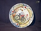 Majolica Bicycle Plate