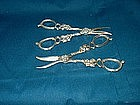 Matched Pair of American Sterling Grape Shears
