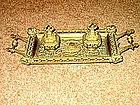 Very Large English Victorian Brass Inkstand