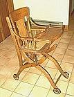 American Oak Convertible High Chair Stroller