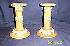 "Doulton Lambeth Candlesticks ""Silicon"""