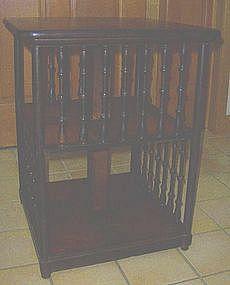 Victorian Walnut Revolving Bookcase