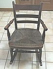 Child's Victorian Rocker with Rush Seat
