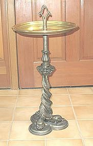 American Brass Table Entwined Dolphins Base