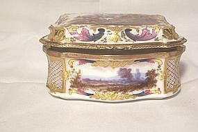 Sevres Porcelain Box; Gilt Bronze Mount