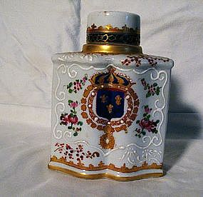 Samson Armorial Porcelain Tea Caddy