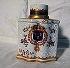 Samson Armorial Porcelain Tea Caddy