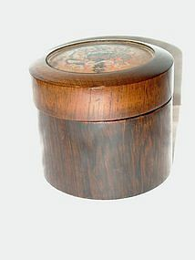 Early Victorian Rosewood Lidded Box