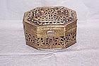 Victorian Brass Hinged Trinket Box