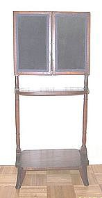 Federal Mahogany Three Panel Folding Fire Screen