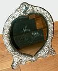 English Victorian Heart Shaped Silver Mirror Wm. Comyns