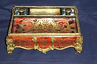 Fabulous Tortoise Shell Bronze Mounted Boulle Inkstand
