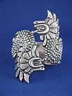 Sterling Quetzalcotal Ballesteros Clamper Bracelet '40s