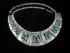 FRANK PATANIA SR. NECKLACE TURQUOISE SILVER STERLING