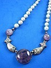 WILLIAM SPRATLING AMETHYST & SILVER NECKLACE 1931-46