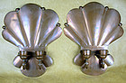 PAIR HECTOR AGUILAR COPPER DOUBLE CANDLE WALL SCONCES