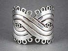 "WILLIAM SPRATLING VINTAGE 1940'S SILVER ""MASK"" BRACELET"