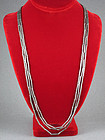 WILLIAM SPRATLING VINTAGE SILVER 3 STRAND TUBE NECKLACE