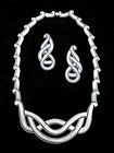 MARGOT DE TAXCO VINTAGE STERLING SILVER NECKLACE & EARRINGS