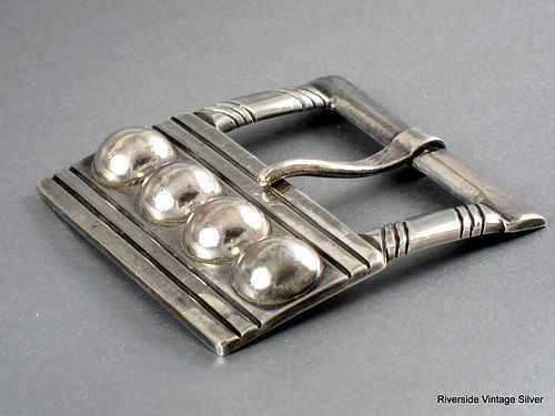 WILLIAM SPRATLING STERLING SILVER BELT BUCKLE