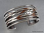 WILLIAM SPRATLING 980 SILVER & COPPER CUFF BRACELET