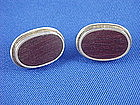 Vintage Gabriel Flores Wood & Sterling Cuff Links
