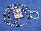 HECTOR AGUILAR Sterling Silver Keychain - Watch Fob