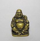 A Solid-Cast Bronze Budai Buddha of Qing Dynasty