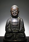 A Fine Bronze Buddha of Ming Dynasty