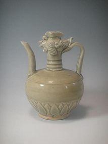 A Celadon Ewer Pot with Phoenix Head.