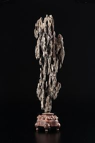 An Old Wood Scholar Rock of Qing Dynasty