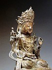 A Nice Bronze Figure of Avalokitesvara, Early Ming.