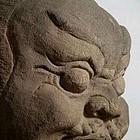 A Rare Sandstone Lokapala Head