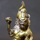 A Rare Gilt Bronze Figure of Lokapala of Tang Dynasty