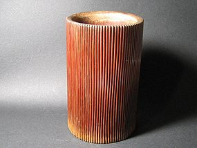 A Korean Bamboo Brush Pot of 19th Century