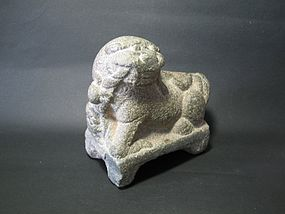 A Cute Stone Candlestick Stand of 19th Century