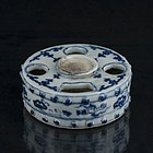 A Unique Blue and White Inkcake Holder of 16th Century.