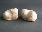 A Pair of Stone Weights of Han Dynasty (206BC-220AD)