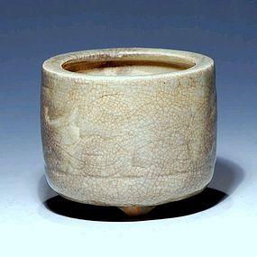A Ge-Glazed Censer of Qing Dynasty